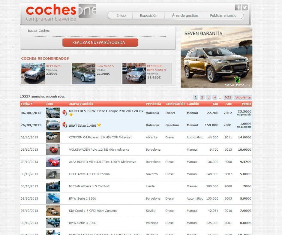 Coches One