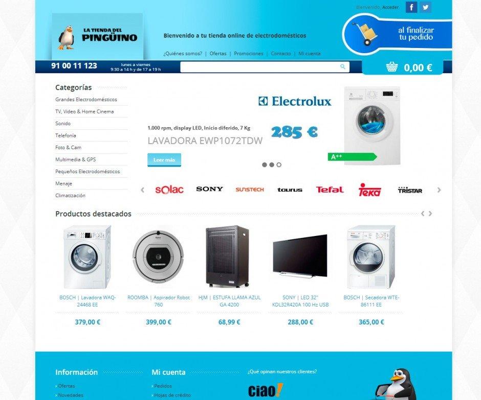 La tienda del pingüino – Tienda OnLine de Electrodomésticos