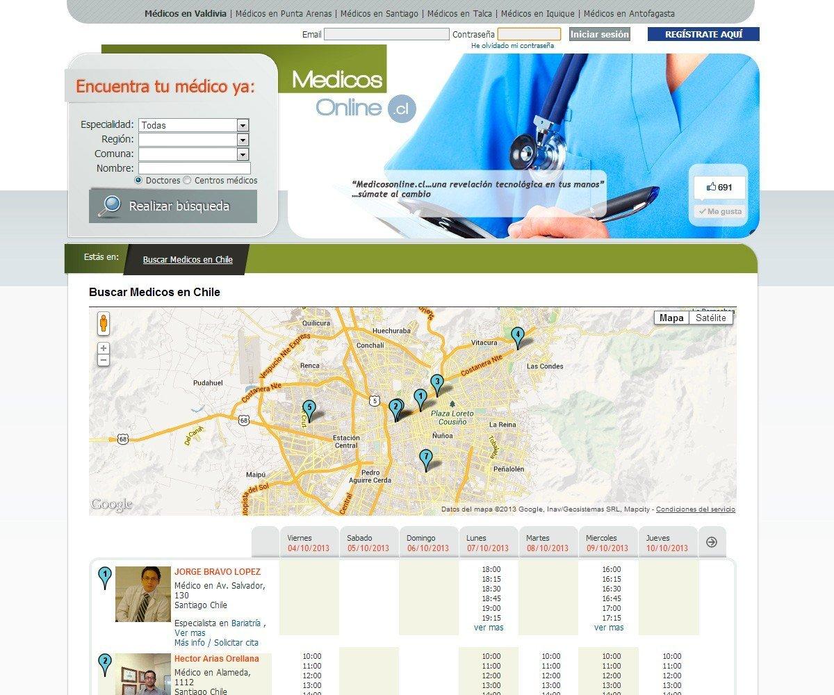 Gestión de Médicos Online