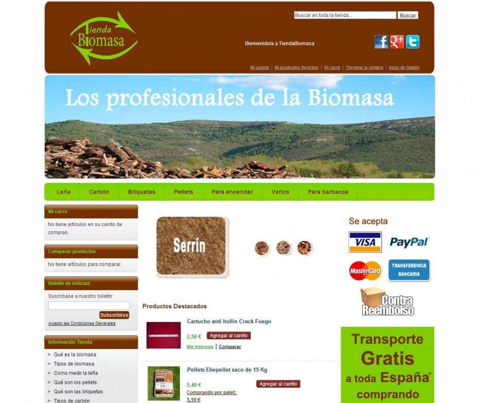 Biomasa Tienda Online