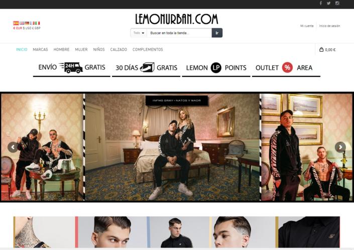 Lemon Urban e-commerce