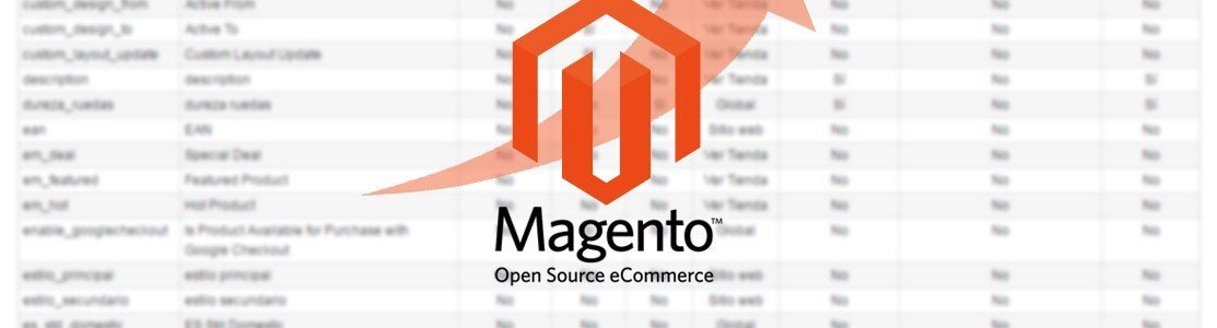 Edicion de atributos de producto en Magento