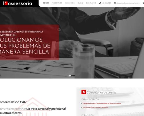 Página web en Wordpress