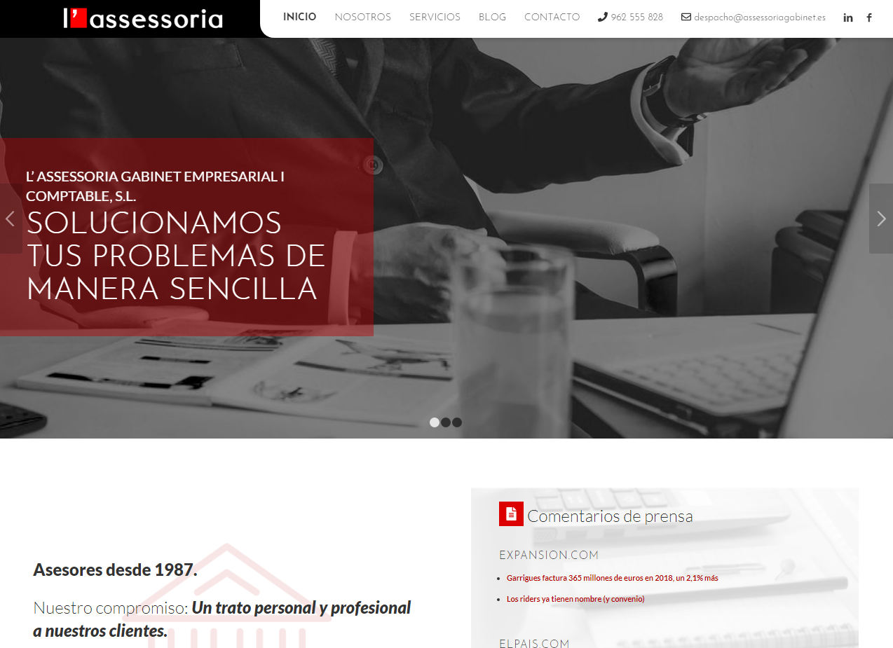 Página web en Wordpress