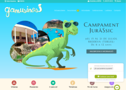 Web corporativa en Wordpress Gamusinos