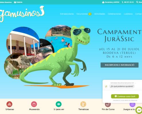Web corporativa en Wordpress Gamusinos