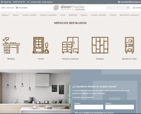 La web corporativa Doormader