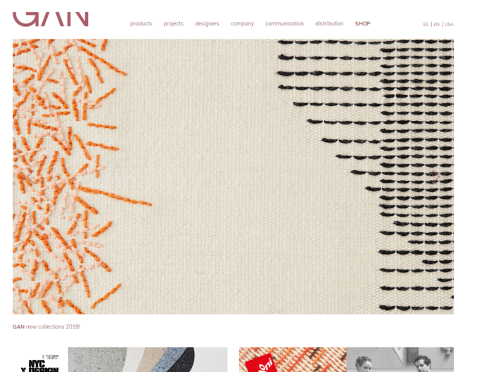 Online shop in Magento Gan Rugs