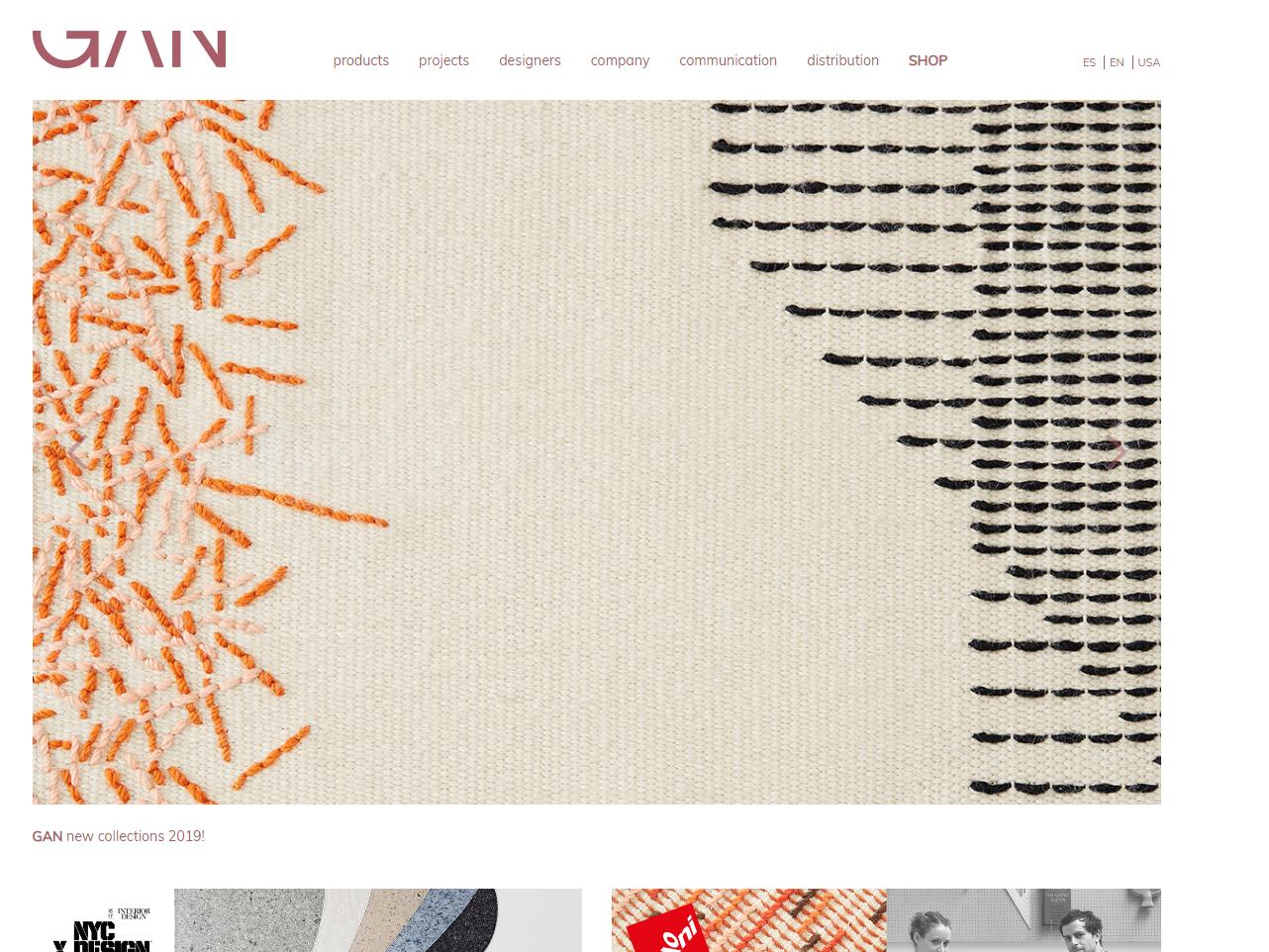 Online shop in Magento Gan Rugs