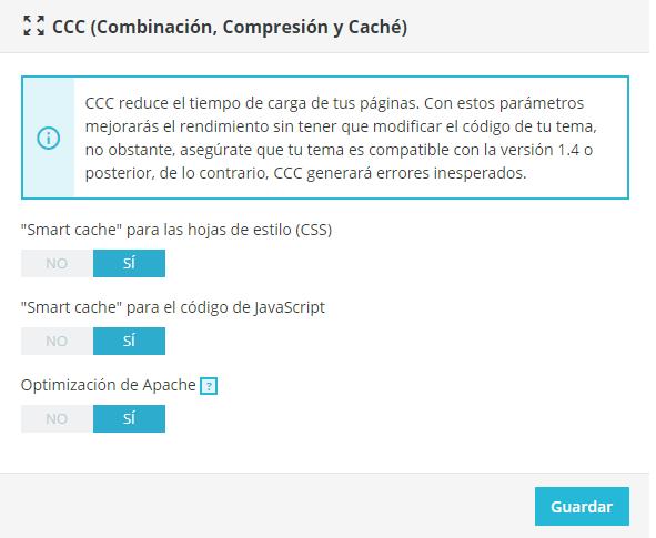 cache PrestaShop