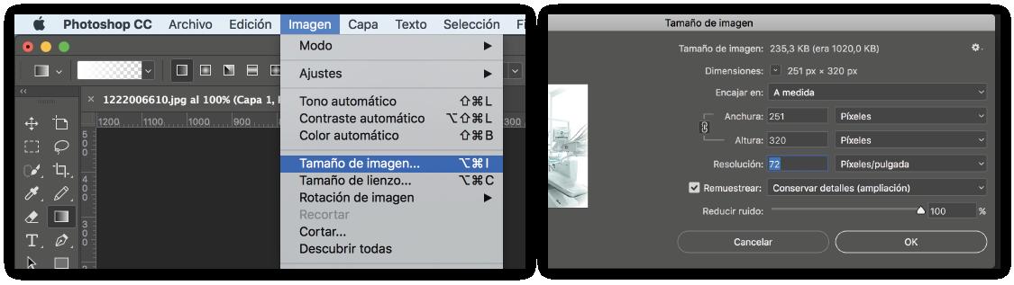 Optimizar imagen para web