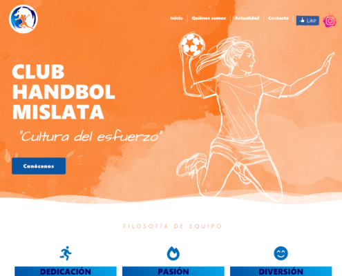 Web corporativa del club Handbol Mislata