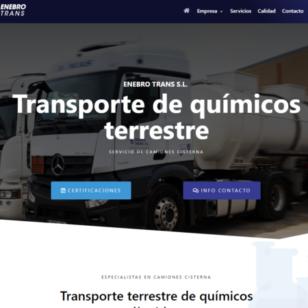 Web en WordPress ENEBRO TRANS