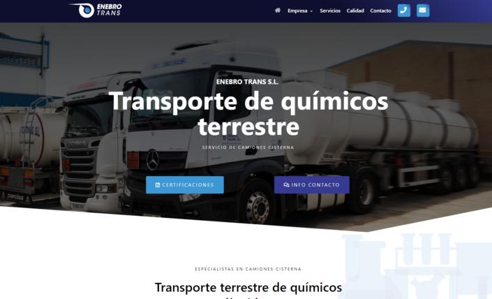 Web en WordPress de Enebro Trans