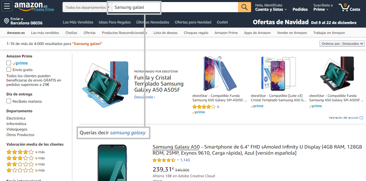 buscador de Amazon