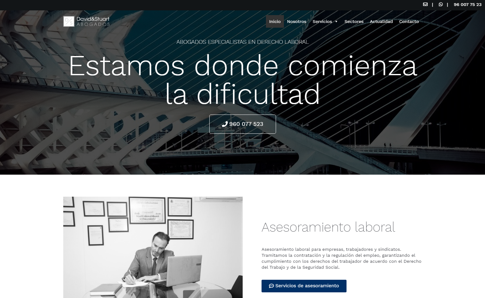 Web corporativa en WordPress