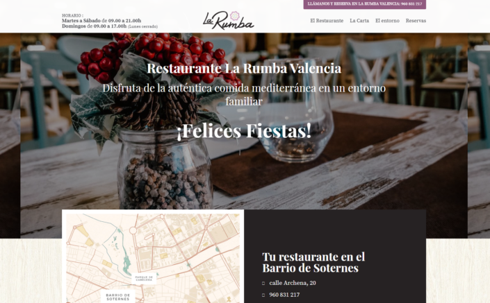 web corporativa en WordPress La Rumba